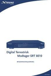 Digital Terrestrisk Modtager SRT 8010 - STRONG Digital TV