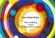Peter Gedbjerg, Lean Energy Cluster