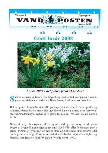 Godt forår 2008 - Grundejerforeningen Hundiegård