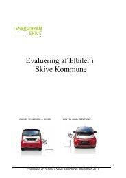 Evaluering af Elbiler i Skive Kommune - Energibyen Skive