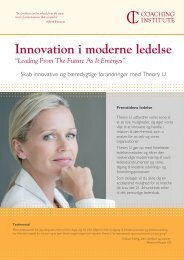 Innovation i moderne ledelse - Coaching Institute