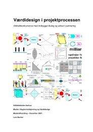 Værdidesign i projektprocessen - Arkitektskolen Aarhus