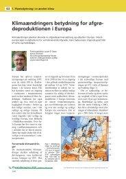 Klimaændringers betydning for afgrødeproduktionen i Europa ...