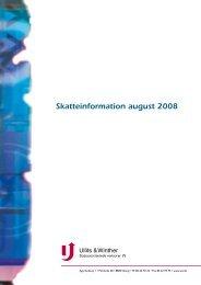 Skatteinformation august 2008 - Ullits & Winther