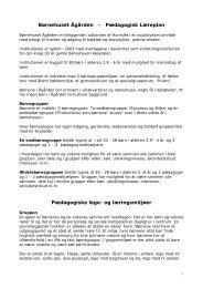 Læreplan - Børnehuset Ågården