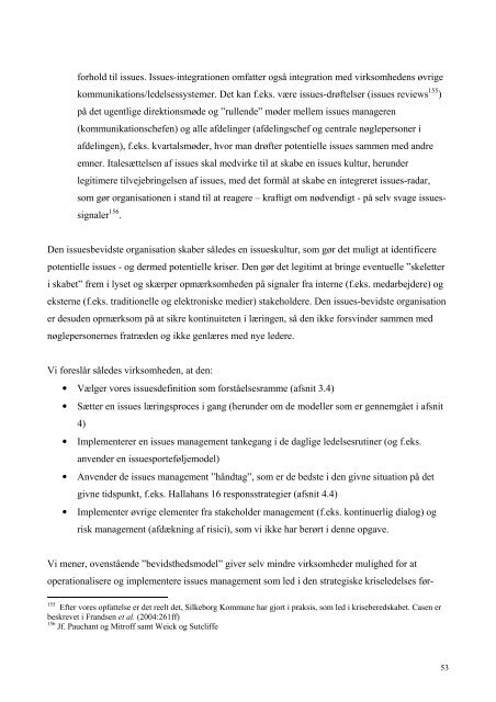 Issues management som strategisk ... - Hans Mogensen