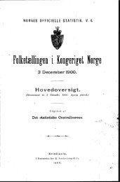 Folketællingen i Kongeriget Norge 3 December 1900 Hovedoversigt