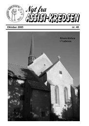 Oktober 2005 nr. 48 Klosterkirken i Vadstena - Assisi-Kredsen