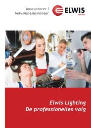 Elwis Lighting De professionelles valg
