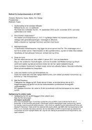 1 Referat fra bestyrelsesmøde d. 6/1-2011 Tilstede: Marianne, Susie ...