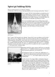 Spiret på Suldrup Kirke - Lokalhistorisk Arkiv