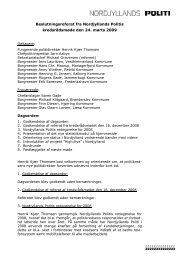 Referat af kredsrådsmåde den 24. marts 2009 - Politiets
