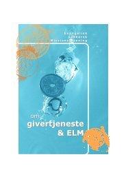 Læs mere i folderen om ELM og givertjeneste - Evangelisk Luthersk ...