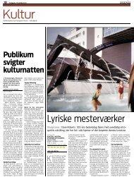 Lars Ole Knippel, Jyllandsposten - Kunsten