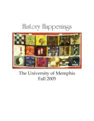 History Happenings - University of Memphis