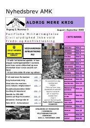 Nyhedsbrev AMK - Arne Hansens hjemmeside for flygtninge og ...