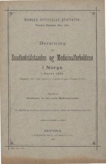 norges officielle statistik. - SSB
