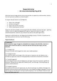 Rapportskrivning - i de naturvidenskabelige fag på SG