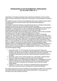 fredningsforslag for tre sommerhuse i tibirke bakker. alle