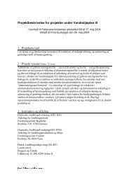 Projektbeskrivelse for projekter under Vandmiljoplan III 1. Projektets ...