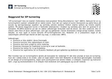 Baggrund for XP turnering - Dansk Skoleskak