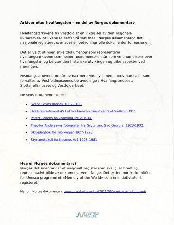 Arkivene etter hvalfangsten – en del av Norges dokumentarv