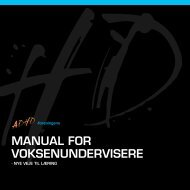 Manual for voksenundervisere - ADHD: Foreningen