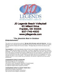 Download 2013 Volleyball Schedule - JD Legends