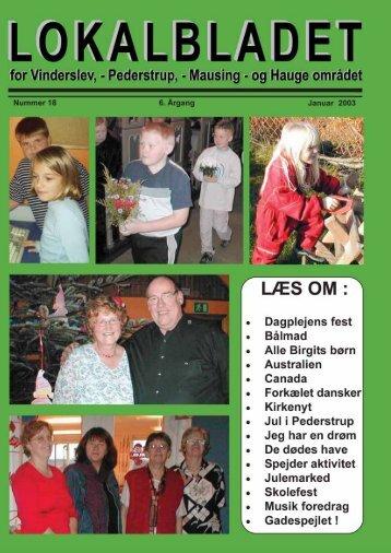 januar 2003 - Lokalbladet - For Vinderslev-, Pederstrup-, Mausing