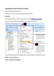 Opsætning af email hosted hos Callnet – Mozilla Thunderbird
