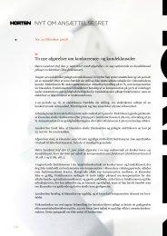 NYT OM ANSÆTTELSESRET - Horten