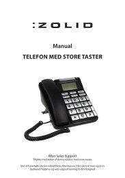 Manual Telefon med sTore TasTer - Unisupport