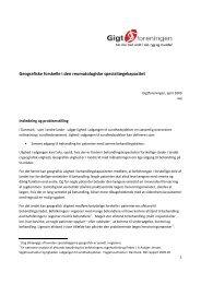 Undersøgelse af geografiske forskelle inden for ... - Gigtforeningen