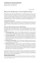 Bilag om den offentlige eksport- og investeringsfremmeindsats