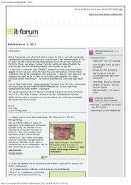 Nyt fra it-forum midtjylland nr. 2 2011