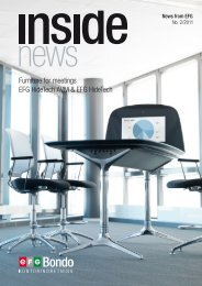 Furniture for meetings EFG HideTech AVM & EFG ... - EFG Bondo