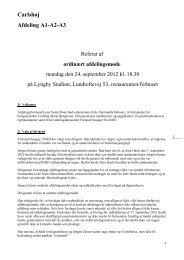 Ordinært afdelingsmøde d. 24 september
