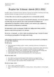 Årsplan for 3.klasse i dansk 2011-2012