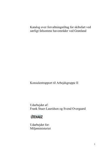 Katalog over forvaltningstiltag for skibsfart ved ... - Naturstyrelsen