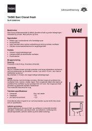 W4f TASKI Sani Clonet fresh - BI-RO A/S