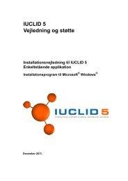 IUCLID 5 Vejledning og støtte