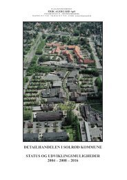 Se detailhandelsanalysen fra 2005 her - Solrød Kommune