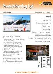 Produktkatalog Lyd - 100V/AV - Scandec Systemer AS