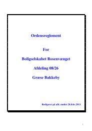 Ordensreglement For Boligselskabet Rosenvænget ... - Domea