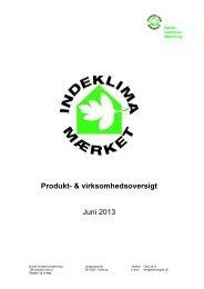 DIM produktoversigt juni 2013 (366 KB) - Teknologisk Institut