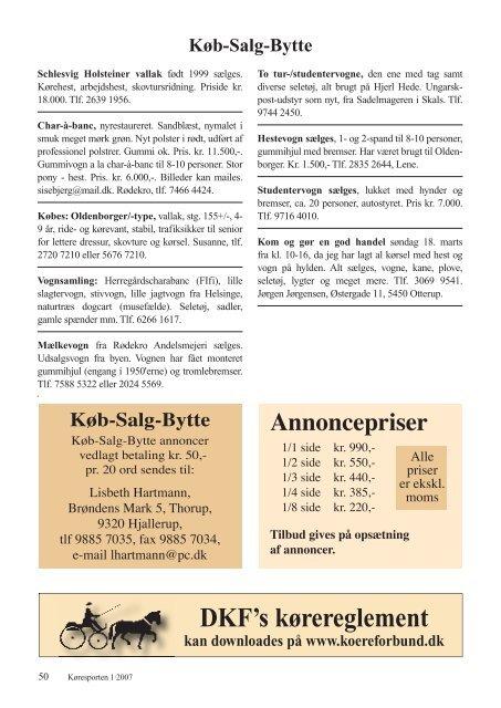 Download Køresporten nr. 1 2007.pdf - Karetmager.dk