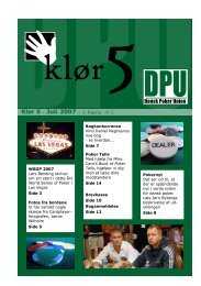Download bladet her - Dansk Poker Union