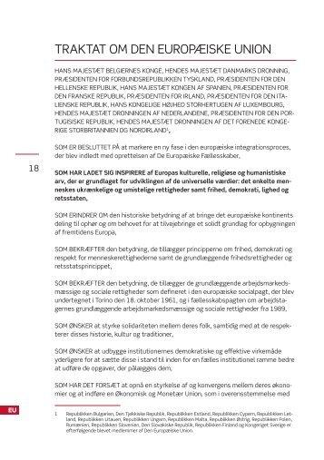 traktat om den europæiske union - Folketingets EU-oplysning