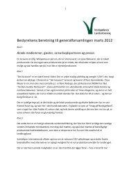 Bestyrelsens beretning til generalforsamlingen marts 2012