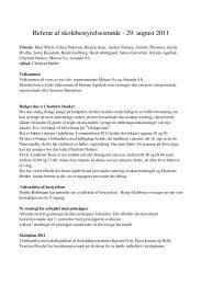 Referat af skolebestyrelsesmøde - 29. august 2011 - Skoleporten Gl ...